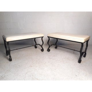 Vintage Modern Upholstered Benches by Coleman Kalick - a Pair Preview