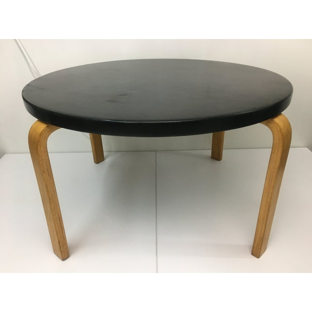 Mid-Century Modern Ebonized Birch Coffee Table Attributed to Alvar Aalto for Artek For Sale - Image 12 of 12