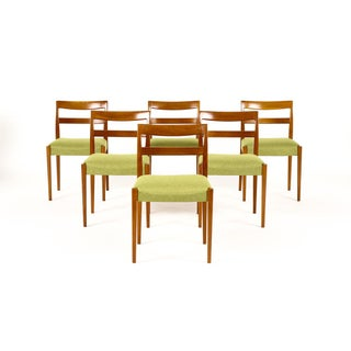 Mid Century Teak Nils Jonsson for Hugo Troeds Garmi Dining Chairs- Set of 6 Preview