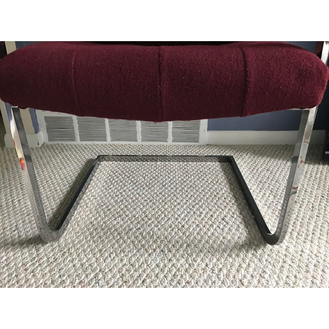 Milo Baughman Style Chrome Armchair by Patrician For Sale In Detroit - Image 6 of 9
