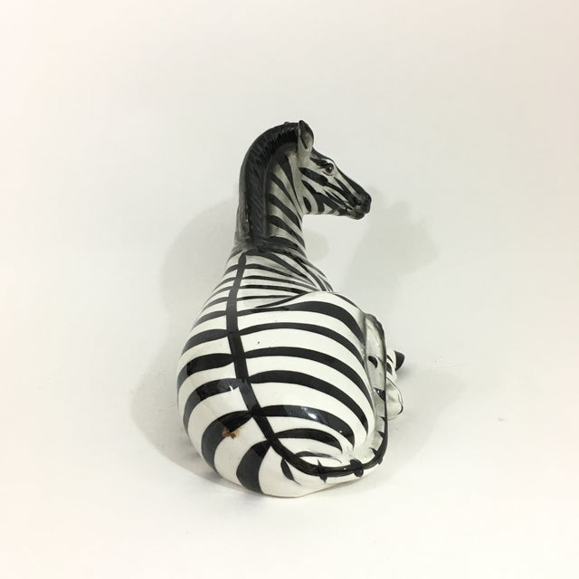 Ceramic Zebra Ceramic Figure Statue For Sale - Image 7 of 10