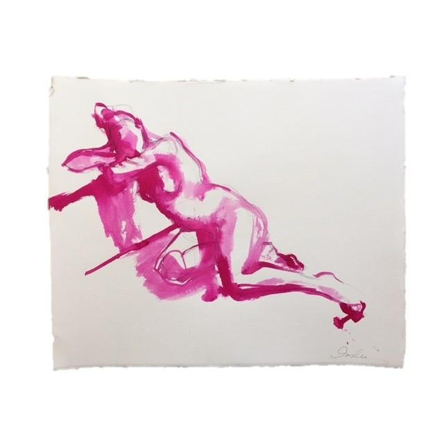 Figure Study in Fuchsia by Inslee - Image 2 of 2