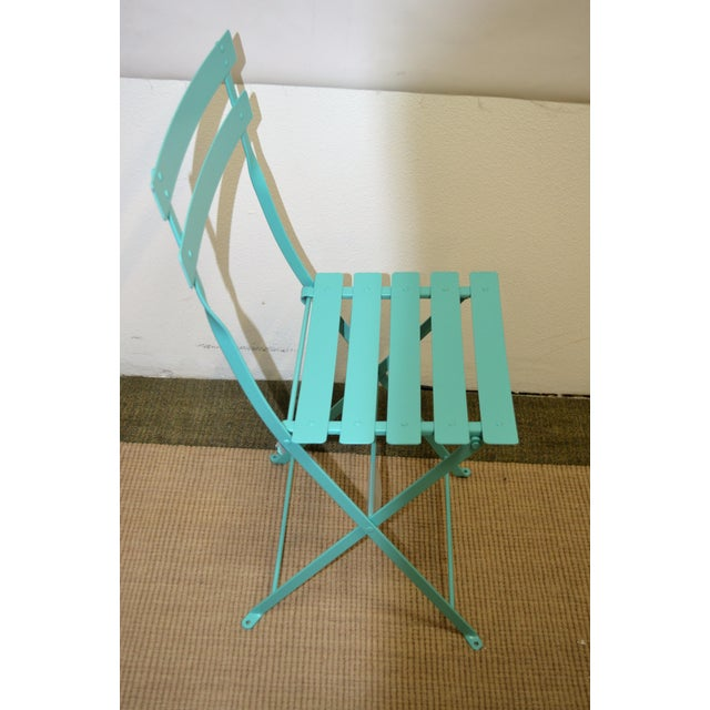2010s Fermob Bistro Lagoon Blue Chair For Sale - Image 5 of 8