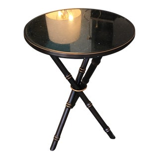 Bamboo Bronze Finished Side Table