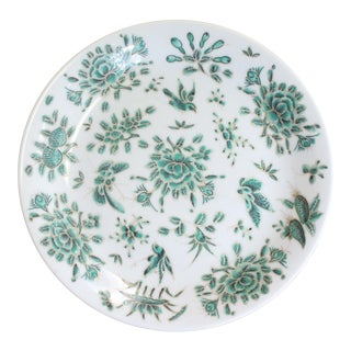 Mid 20th Century Green and White Chinese Cookie Plate For Sale