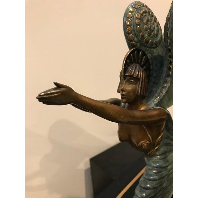 "1984 Erte Ltd Ed ""Angel"" Bronze Sculpture by Romain De Tirtoff For Sale - Image 11 of 13"