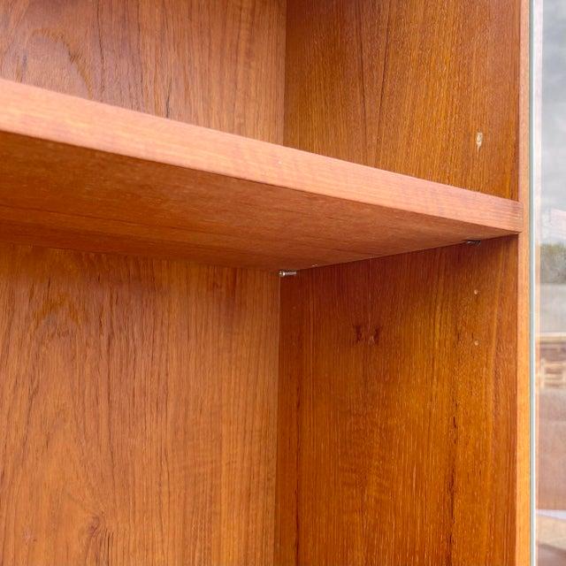 Mid-Century Teak Bookshelf With Cabinet For Sale - Image 11 of 13