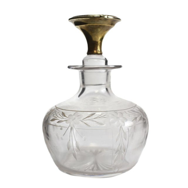 1925 The McChesney Co. 14k Yellow Gold & Etched Glass Perfume Bottle - Image 2 of 8