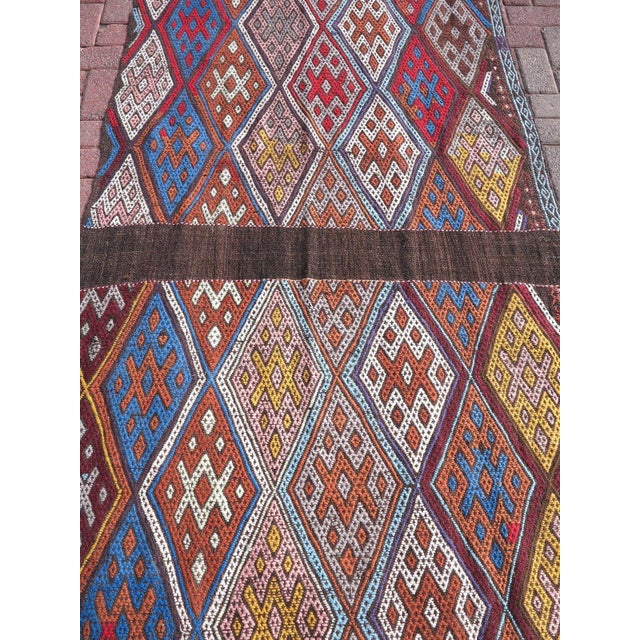 "Oversized Kilim Runner Rug - 4' X 22'11"" For Sale - Image 4 of 9"
