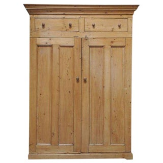 Early 19th Century Two Door Pine Cabinet For Sale