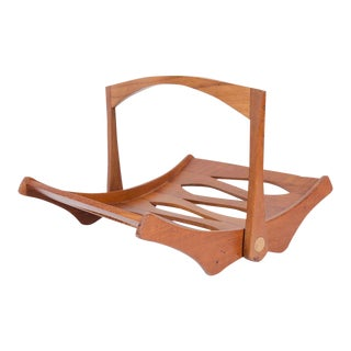 Jens Quistgaard for Dansk Staved Teak Magazine Rack For Sale