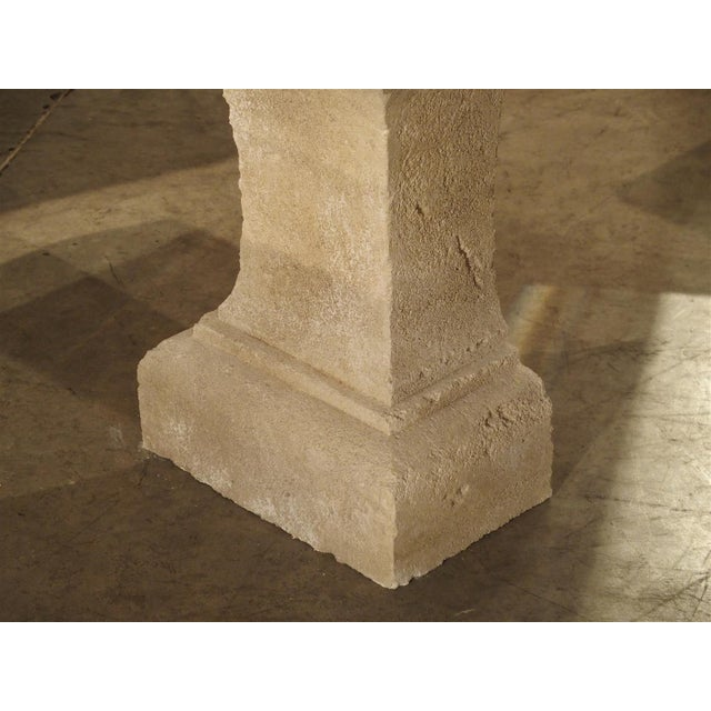 Pair of Carved Limestone Console Tables from the South of France - Image 8 of 11
