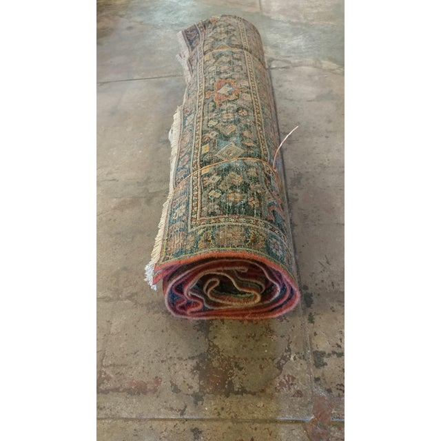 Vintage Persian Sarouk Rug- size 9x10 ft For Sale - Image 11 of 11