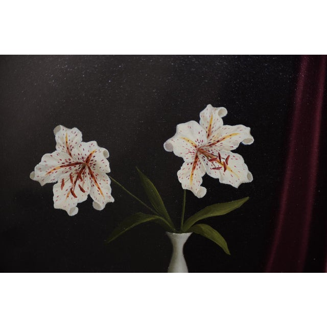 Tilly Moes (1899-1979) Still Life W/ Lilies C.1950 For Sale - Image 4 of 10