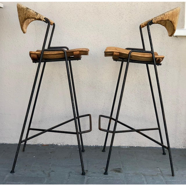 Arthur Umanoff Bar Stools - A Pair - Image 3 of 6