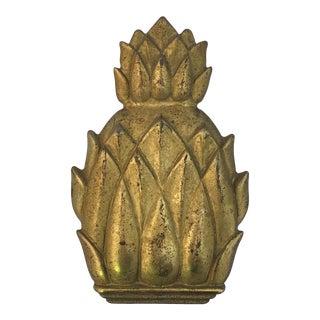 Virginia Metal Crafters Solid Brass Pineapple Door Knocker For Sale
