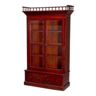Antique Eastlake Mahogany Two-Door Bookcase, circa 1900 For Sale