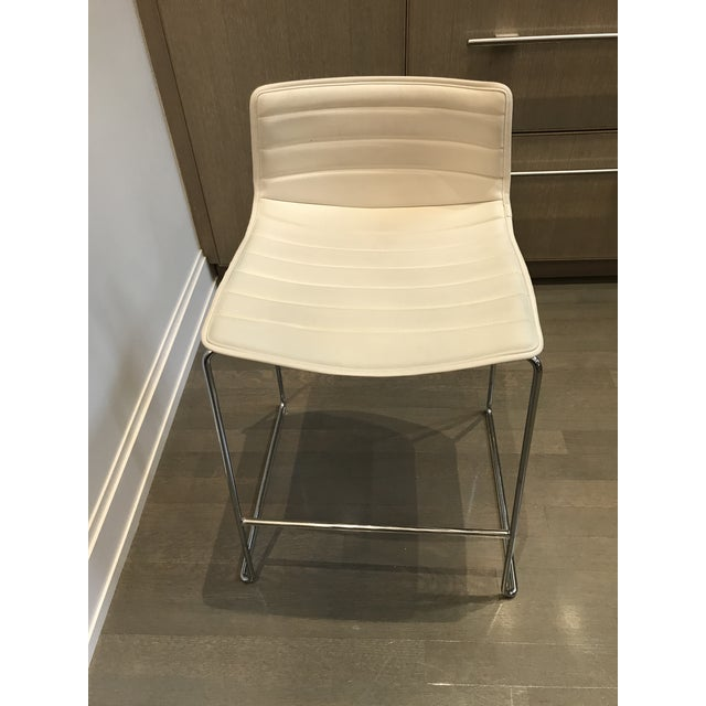Arper Catifa 46 Sled Low Back Counter Stools - Set of 4 For Sale In New York - Image 6 of 10