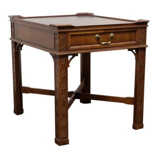 Chinese Chippendale Style Cherry End / Side Table For Sale