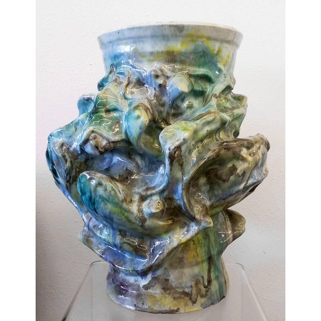White 1960s Monumental Early Elena Karina Vessel For Sale - Image 8 of 11