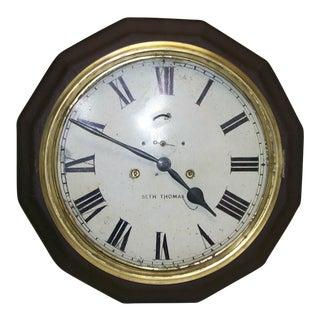1910 Seth Thomas Wall Clock For Sale