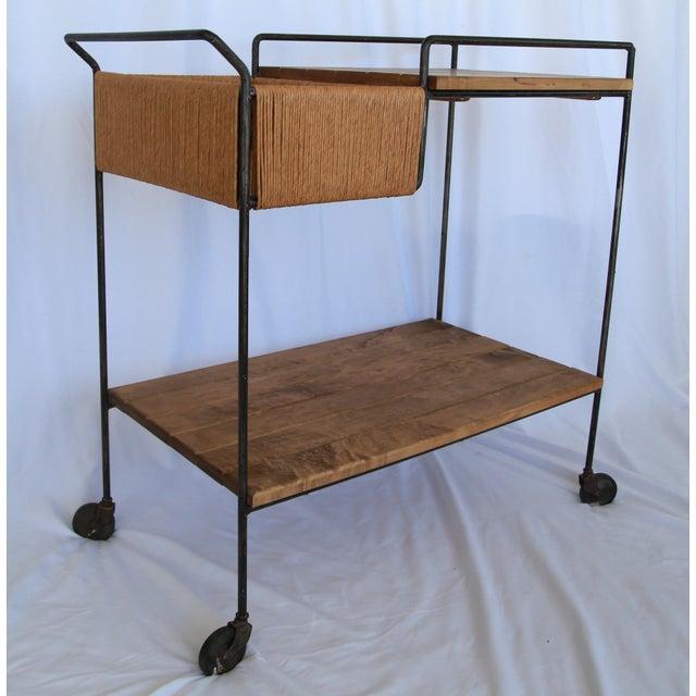 Arthur Umanoff 1950s Mid-Century Modern Sleek Arthur Umanoff Bar Cart For Sale - Image 4 of 5
