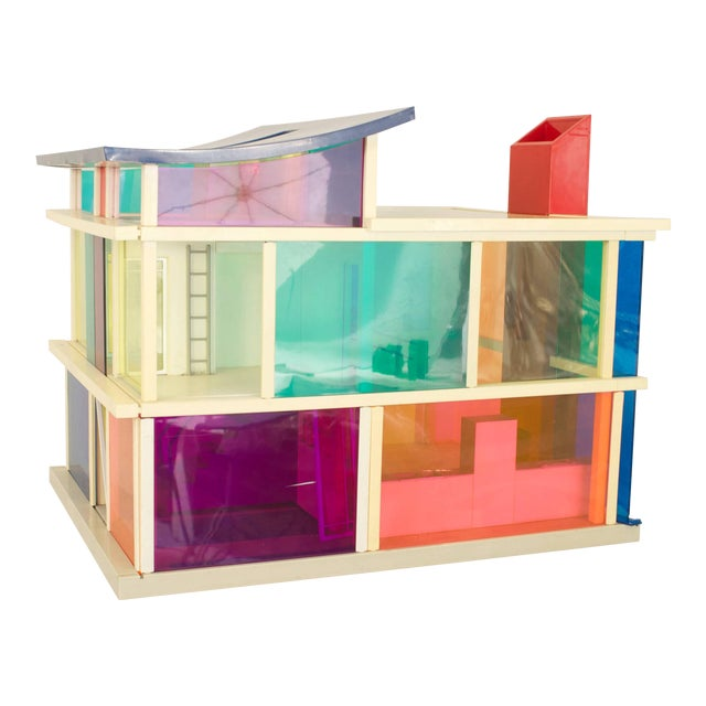 American Midcentury Plastic Multicolored Scale Architectural Model of a Home For Sale