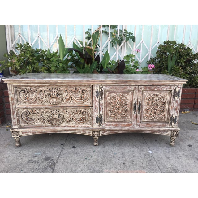 French Style Distressed Cabinet - Image 3 of 11