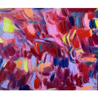 """""""Love Like This"""" Contemporary Abstract Expressionist Oil Painting by Monica Shulman For Sale"""