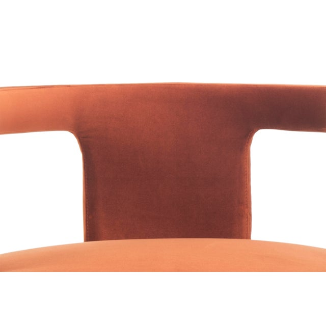 Diane Accent Chair, Rust For Sale - Image 4 of 6