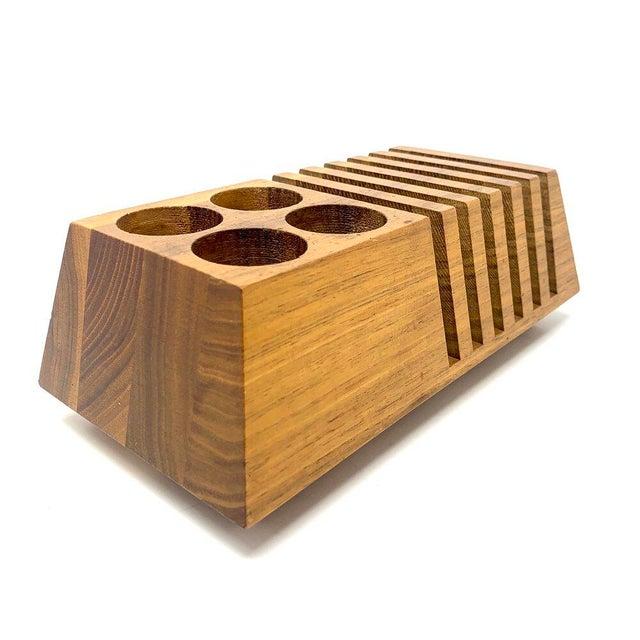 Mid-Century Modern Geometric Wooden Desk Organizer For Sale - Image 13 of 13