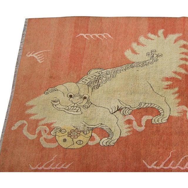 1900 - 1909 C. 1900s Antique Handmade Samarkand Rug - 5′7″ × 8′3″ For Sale - Image 5 of 7