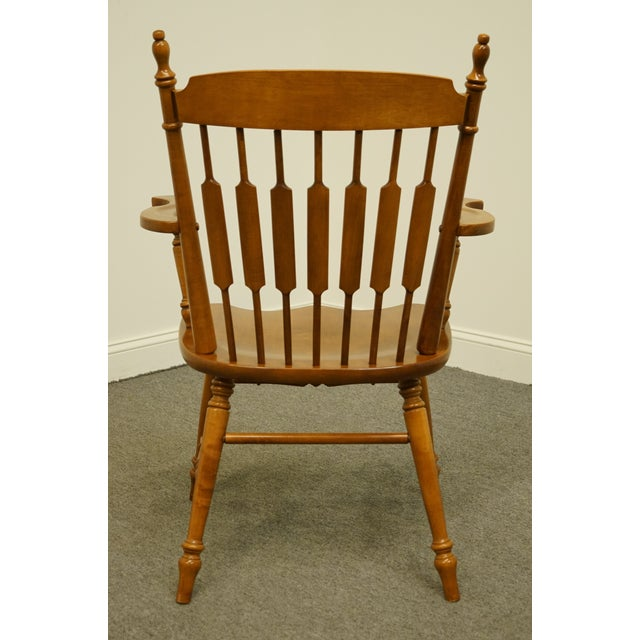 Wood Tell City Maple Colonial Cattail Back Arm Chair For Sale - Image 7 of 9