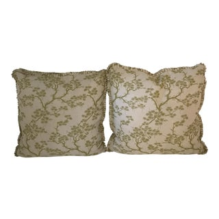 Oversized Chinoiserie Decorative Pillows - A Pair