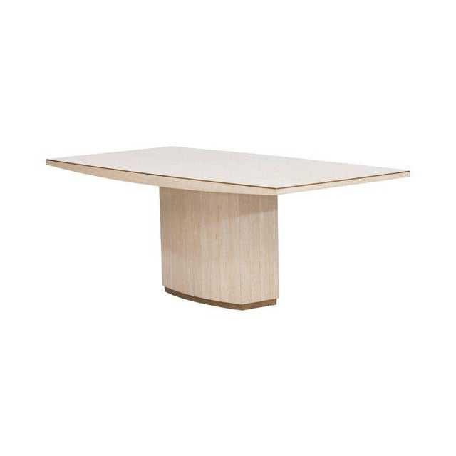 Willy Rizzo Willy Rizzo Travertine Dining Table For Sale - Image 4 of 8