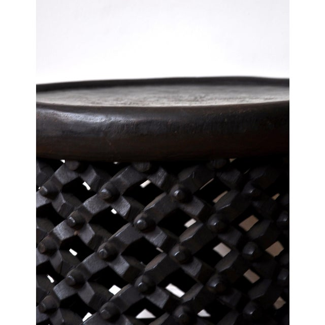 1990s African Carved Bamileke Coffee Table For Sale - Image 4 of 6