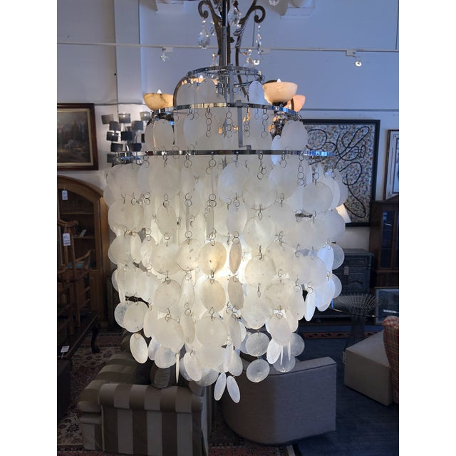 Design Plus Gallery presents a Fun 1DM Pendant by Verpan. Designed by Verner Panton in 1964. Consist of mother of pearl...