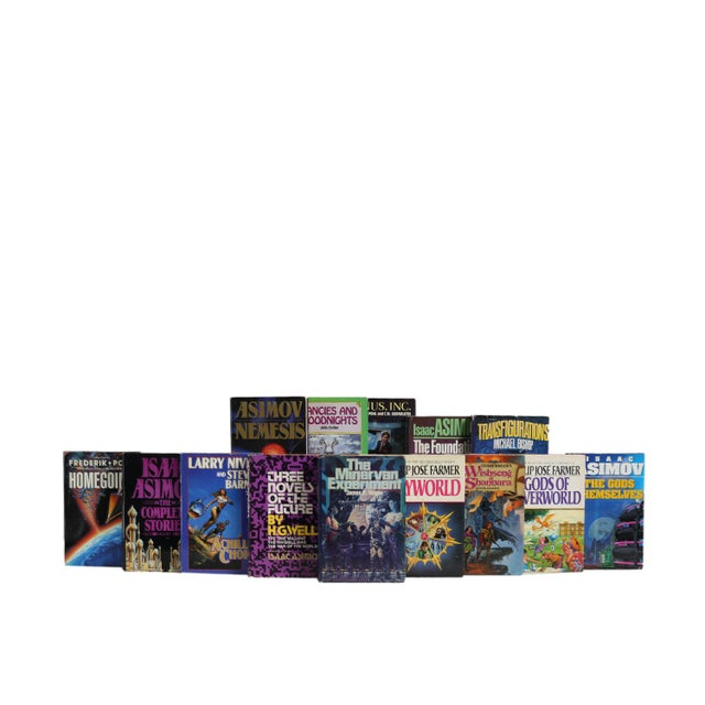 Sci-Fi Mix - Twenty Decorative Books. Twenty vintage and early contemporary books featuring a variety of futuristic tales...