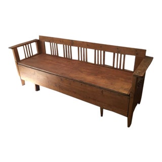 Bench With Storage in Pine For Sale