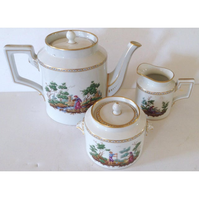 Italian Richard Ginori Tea Set For Sale - Image 3 of 5