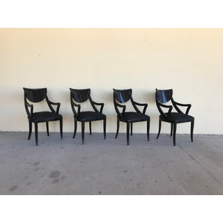 1980s Vintage Pietro Costantini Gondola Lacquered Dining Armchairs- Set of 4 Preview