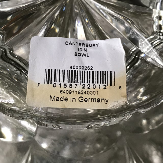 Waterford Crystal Bowl Marquis by Waterford Crystal Canterbury Pattern Bowl/Final Reduction For Sale - Image 4 of 10