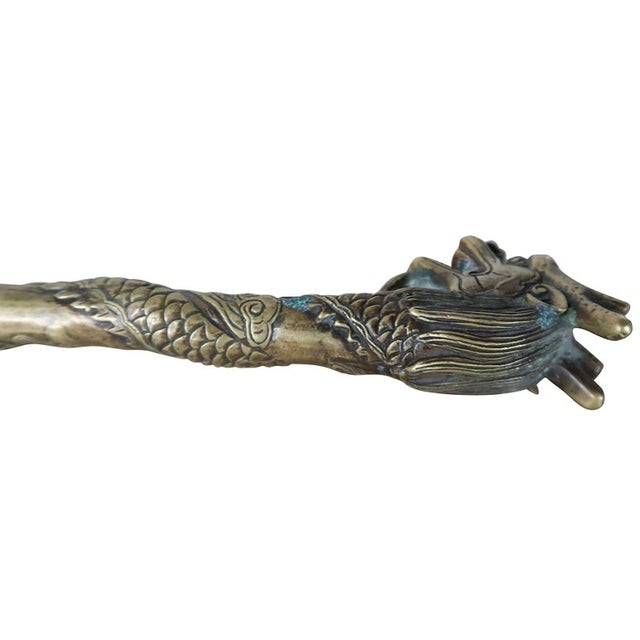Bronze Shoe Horn With Dragon Head - Image 4 of 5