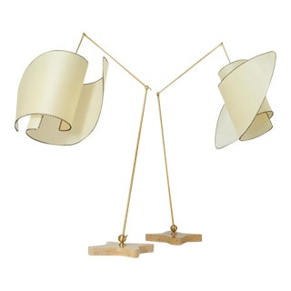 "Pair of ""Suora"" Floor Lamps by Carlo Mollino For Sale"