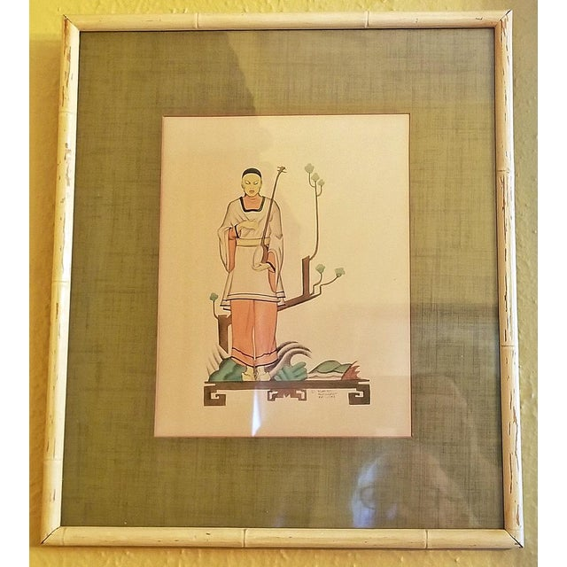 Early 20th Century Art Deco Mixed Media Paintings by Robert Reinhardt Von Liski - a Pair For Sale In Dallas - Image 6 of 13