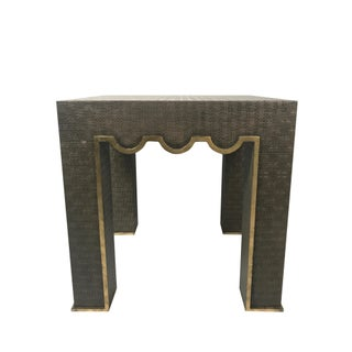 Hollywood Regency Chelsea House Raffia Wrapped Accent Table Preview