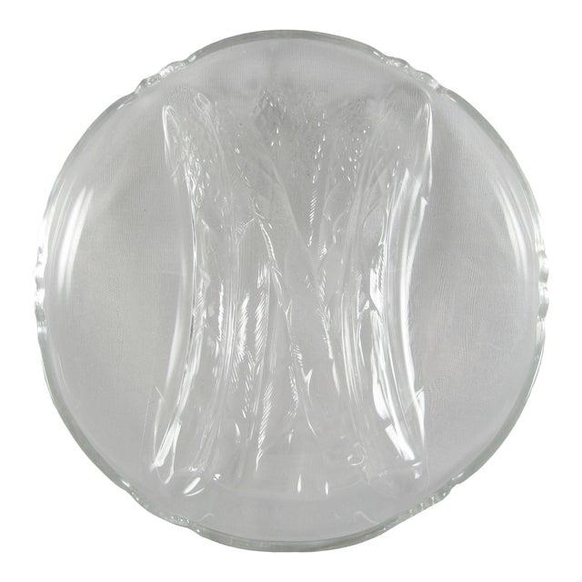 Mid-Century Cambridge Glass Martha Clear Asparagus Dinnerware Plates - Set of 8 For Sale