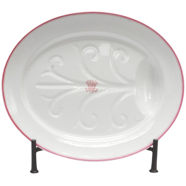 Late 19th Century Armorial China Platter For Sale