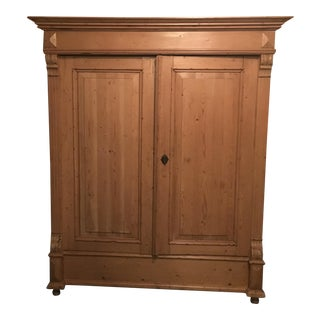 Pine Shelved Armoire
