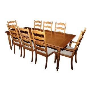 Stanley Furniture Dining Room Set With Two Breakfronts & One Rolling Side Server - 12 Pc. Set For Sale